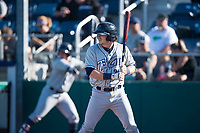 Tri-City Dust Devils designated hitter Nick Gatewood (21) at bat during a Northwest League game against the Everett AquaSox at Everett Memorial Stadium on September 3, 2018 in Everett, Washington. The Everett AquaSox defeated the Tri-City Dust Devils by a score of 8-3. (Zachary Lucy/Four Seam Images)