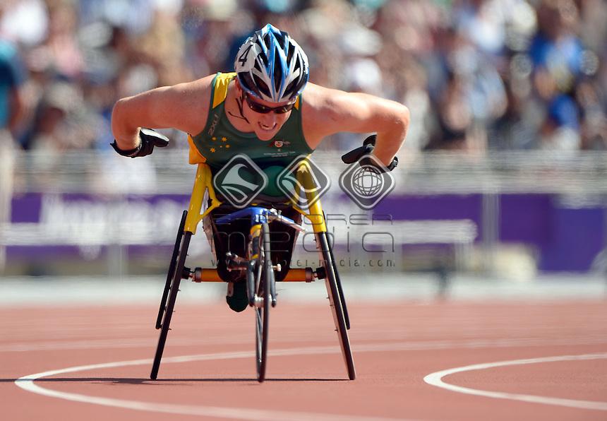 Richard Coleman (AUS)  heats<br /> Athletics: Men's 200m T-53<br /> Olympic Stadium (Friday 7 Sept)<br /> Paralympics - Summer / London 2012<br /> London England 29 Aug - 9 Sept <br /> © Sport the library / Jeff Crow