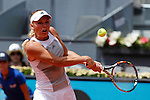Caroline Wozniacki from Denmark during her Madrid Open tennis tournament match against Christina Mchale from USA in Madrid, Spain. May 04, 2015. (ALTERPHOTOS/Victor Blanco)