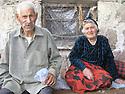 Armenia 2007 <br />  Ailason Giawaz and her husband Suto,a Yezidi couple from Verin, district of Artashat<br /> Armenie 2007<br /> Aliason Giawaz et son mari Suto, couple yezidi de Verin , region de Artashat