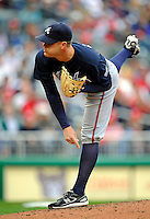 13 April 2008: Atlanta Braves' pitcher Jeff Bennett in action against the Washington Nationals at Nationals Park, in Washington, DC. The Nationals ended their 9-game losing streak by defeating the Braves 5-4 in the last game of their 3-game series...Mandatory Photo Credit: Ed Wolfstein Photo