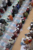 Men and Boys Awaiting Prayer Time, Madrasa Imdadul Uloom, Dehradun, India.