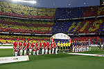 Barcelona´s players and Athletic de Bilbao´s players before 2014-15 Copa del Rey final match between Barcelona and Athletic de Bilbao at Camp Nou stadium in Barcelona, Spain. May 30, 2015. (ALTERPHOTOS/Victor Blanco)