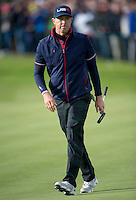 27.09.2014. Gleneagles, Auchterarder, Perthshire, Scotland.  The Ryder Cup.  Hunter Mahan [USA] in action during the Saturday Foursomes.