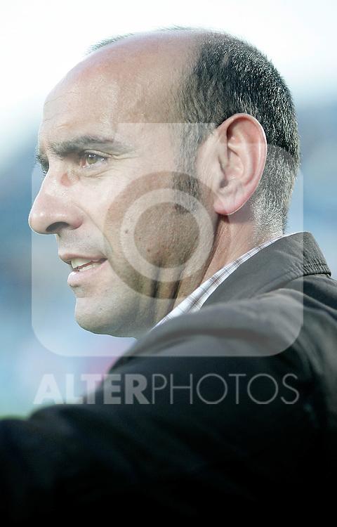 Sevilla's general manager Monchi during La Liga match, April 18, 2010. (ALTERPHOTOS/Alvaro Hernandez).