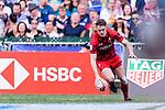 Samoa vs Wales during the HSBC Hong Kong Sevens 2018 Shield Final match on April 8, 2018 in Hong Kong, Hong Kong. Photo by Marcio Rodrigo Machado / Power Sport Images