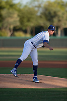 AZL Dodgers starting pitcher James Marinan (31) follows through on his delivery during an Arizona League game against the AZL White Sox at Camelback Ranch on July 3, 2018 in Glendale, Arizona. The AZL Dodgers defeated the AZL White Sox by a score of 10-5. (Zachary Lucy/Four Seam Images)
