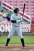 Chris Tremblay, 2010 Eugene Emeralds, playing here against the Salem-Keizer Volcanoes at Volcanoes Stadium in Keizer, OR - 09/03/2010.Photo by:  Bill Mitchell/Four Seam Images..