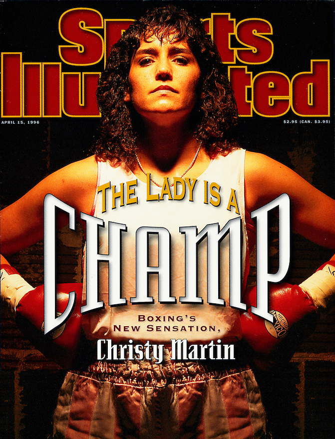 Boxer Christy Martin on the cover of Sports Illustrated photographed by Brian Smith