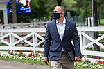 July 17, 2020: Trainer Chad Brown before a race at Saratoga Race Course in Saratoga Springs, N.Y. on July 17, 2020. Robert Simmons/Eclipse Sportswire/CSM