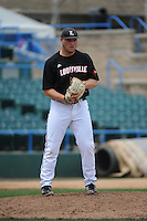University of Louisville Cardinals pitcher Drew Harrington (20) during a game against the Temple University Owls at Campbell's Field on May 10, 2014 in Camden, New Jersey. Temple defeated Louisville 4-2.  (Tomasso DeRosa/ Four Seam Images)
