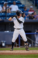Staten Island Yankees Matt Pita (2) at bat during a NY-Penn League game against the Aberdeen Ironbirds on August 22, 2019 at Richmond County Bank Ballpark in Staten Island, New York.  Aberdeen defeated Staten Island 4-1 in a rain shortened game.  (Mike Janes/Four Seam Images)