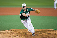 Charlotte 49ers relief pitcher Austin Wynn (45) in action against the Wake Forest Demon Deacons at Hayes Stadium on March 16, 2016 in Charlotte, North Carolina.  The 49ers defeated the Demon Deacons 7-6.  (Brian Westerholt/Four Seam Images)