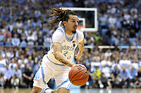 CHAPEL HILL, NC - MARCH 03: Cole Anthony #2 of the University of North Carolina drives with the ball during a game between Wake Forest and North Carolina at Dean E. Smith Center on March 03, 2020 in Chapel Hill, North Carolina.