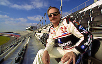 Dale Earnhardt sits proudly in the newly christened Earnhardt Grandstand at Daytona International Speedway, Daytona Beach , FL, February 2001.  (Photo by Brian Cleary/www.bcpix.com)