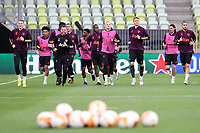 25th May 2021; Gdansk, Poland; Manchester United training at the Stadion Energa Gdańsk prior to their Europa League final versus Villarreal on May 26th;  SCOTT MCTOMINAY, AARON WAN-BISSAKA, DONNY VAN DE BEEK, NEMANJA MATIC, ALEX TELLES