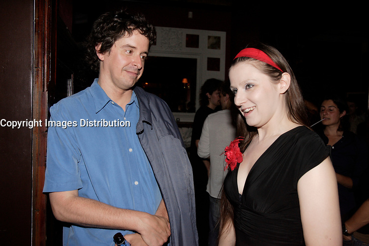 Montreal (Qc) CANADA, July 5, 2007 -<br /> <br /> Yves P. Pelletier, FEATURE FILM JURY President (L) talk with Isabelle Stephen , actress (R) at<br /> Fantasia Film Festival opening party, July 5, 2007<br /> photo : Pierre Roussel (c)  Images Distribution