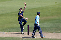 Scott Currie in bowling action for Hampshire during Hampshire Hawks vs Essex Eagles, Royal London One-Day Cup Cricket at The Ageas Bowl on 22nd July 2021