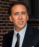 NEW YORK, NY - FEBRUARY 09: Actor Nicolas Cage visits 'Late Show with David Letterman' at Ed Sullivan Theater on February 9, 2012 in New York City.