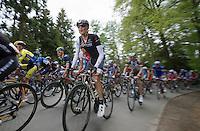 Fränk Schleck (LUX/Trek Factory Racing) up the Côte de Wanne<br /> <br /> Liège-Bastogne-Liège 2014