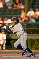 April 26 2010: Gustavo Nunez (24) of the Lakeland Flying Tigers during a game vs. the Daytona Beach Cubs at Jackie Robinson Ballpark in Daytona Beach, Florida. Daytona, the Florida State League High-A affiliate of the Chicago Cubs, won the game against Lakeland, affiliate of the Detroit Tigers, by the score of 3-1  Photo By Scott Jontes/Four Seam Images
