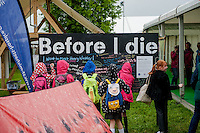Thursday 22 May 2014<br /> Pictured: Children write on a chalk board<br /> Re: Hay Festival takes place at Hay on Wye, Powys, Wales