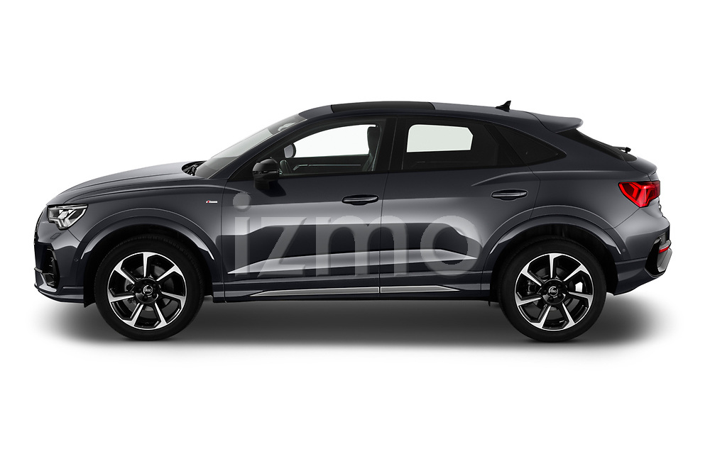 Car Driver side profile view of a 2020 Audi Q3-Sportsback S-Line 5 Door SUV Side View