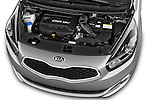 Car Stock 2014 KIA CARENS Lounge 5 Door Mini MPV 2WD Engine high angle detail view