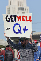 OCT 04 Trump Supporters at Walter Reed National Military Medical Center