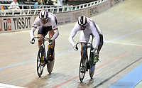 CALI – COLOMBIA – 18-01-2015: Fabian Puerta de Colombia gana medalla de bronce en la prueba de Velocidad Varones en el Velodromo Alcides Nieto Patiño, sede de la III Copa Mundo UCI de Pista de Cali 2014-2015  / Fabian Puerta de Colombia wins the bronze medal  in the Men´s Sprint Race at the Alcides Nieto Patiño Velodrome, home of the III Cali Track World Cup 2014-2015 UCI. Photos: VizzorImage / Luis Ramirez / Staff.