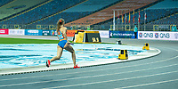 1st May 2021; Silesian Stadium, Chorzow, Poland; World Athletics Relays 2021. Day 1; Femke Bol hits the bend in the mixed 4 x 400 heats