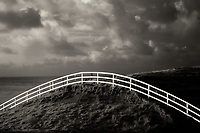 Fence at Cliffs of Moher, County Claire Ireland