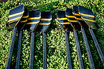 The oars of a boat lie in the grass during the 68th Dad Vail Regatta on the Schuylkill River in Philadelphia, Pennsylvania on May 12, 2006......................