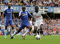Pictured: Nathan Dyer of Swansea (R) is challenged by Ramires of Chelsea (L). Saturday 17 September 2011<br />