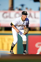 Bradenton Marauders shortstop Kevin Newman (5) during a game against the Fort Myers Miracle on April 9, 2016 at McKechnie Field in Bradenton, Florida.  Fort Myers defeated Bradenton 5-1.  (Mike Janes/Four Seam Images)