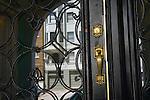 Gold Door Handle on Glass Door