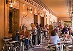 Principality of Monaco, on the French Riviera (Côte d'Azur), district La Condamine: Café Place du Marche at square Place d'Armes | Fuerstentum Monaco, an der Côte d'Azur, Stadtteil La Condamine: Café Place du Marche am Place d'Armes