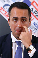 Italian Foreign Minister Luigi di Maio<br /> Rome February 27th 2020. Press conference at the Foreign Press Association about Coronavirus (Covid-19). The Italian Government try to calm the fears about the outbreak of the flu, to avoid a drop of the tourism and commercial relations.<br /> Photo Samantha Zucchi Insidefoto
