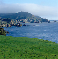 A view of the coast at Big Sur