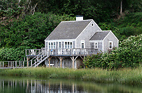 Charming cottage house on Mill Pond, Chatham, Cape Cod, Massachusetts, USA.