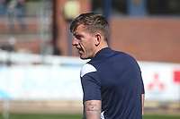 3rd April 2021; Dens Park, Dundee, Scotland; Scottish FA Cup Football, Dundee FC versus St Johnstone; Lee Ashcroft of Dundee during the warm up before the match
