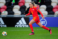 Josephine Green of Wales Women's in action during the UEFA Women's EURO 2022 Qualifier match between Wales Women and Faroe Islands Women at Rodney Parade in Newport, Wales, UK. Thursday 22 October 2020
