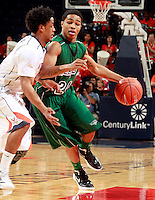 CHARLOTTESVILLE, VA- NOVEMBER 26:  Keifer Sykes #24 of the Green Bay Phoenix handles the ball during the game on November 26, 2011 at the John Paul Jones Arena in Charlottesville, Virginia. Virginia defeated Green Bay 68-42. (Photo by Andrew Shurtleff/Getty Images) *** Local Caption *** Aaron Armstead