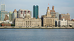 The Custom House On The Shanghai Bund, With HSBC Left, The China Merchants Building Far Left And The Bank Of Communications Right.