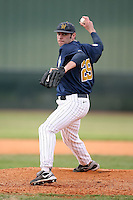 February 22, 2009:  Pitcher Marcus Broadwater (29) of West Virginia University during the Big East-Big Ten Challenge at Naimoli Complex in St. Petersburg, FL.  Photo by:  Mike Janes/Four Seam Images