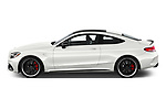 Car driver side profile view of a 2018 Mercedes Benz C-Class Coupe AMG C63 S 2 Door Coupe