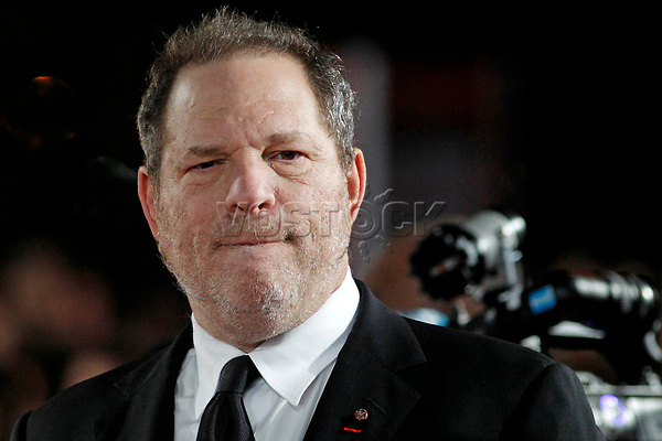 epa06254009 (FILE) - US producer Harvey Weinstein arrives for the Jury Cinecoles ceremony during the 13th annual Marrakech International Film Festival in Marrakech, Morocco, 06 December 2013 (reissued 09 October 2017). According to media reports on 09 October 2017, Hollywood producer Harvey Weinstein was fired from The Weinstein Company, which he co-founded, after additional information surfaced concerning his conduct amid accusations of decades of sexual harassment.  EPA-EFE/GUILLAUME HORCAJUELO / POOL