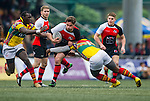 Allied World Forces Exiles vs GFI East Africans during the 2015 GFI HKFC Tens at the Hong Kong Football Club on 25 March 2015 in Hong Kong, China. Photo by Juan Manuel Serrano / Power Sport Images