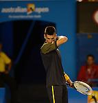 Novak Djokovic (SRB) wins at Australian Open in Melbourne Australia on 20th January 2013