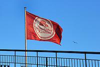Fahne der Oberhafenkantine: EUROPA, DEUTSCHLAND, HAMBURG, (EUROPE, GERMANY), 30.10.2012: Fahne der Oberhafenkantine